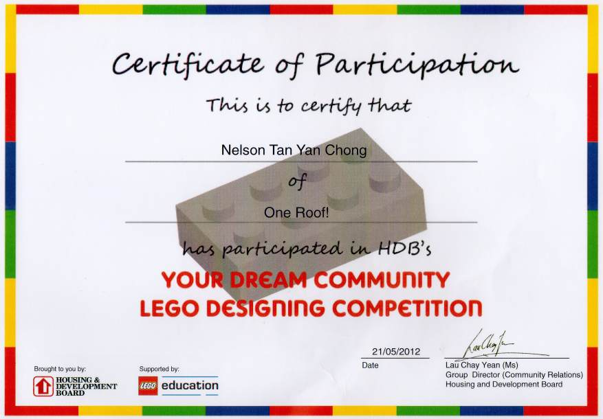 hdb lego competition cert