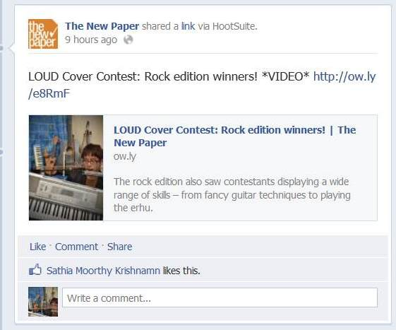 loud cover contest rock edition facebook the new paper